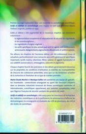 Actifs et additifs en cosmétologie (3e edition) - 4ème de couverture - Format classique