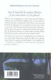 Sur le bord de la riviere piedra, je me suis assise et j'ai pleure - 4ème de couverture - Format classique