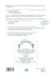L Integrale Du Concours Ifsi 2eme Edition Deroulement Des 3 Epreuves Conseil Methodologiques Exercic - 4ème de couverture - Format classique
