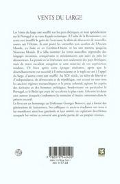 Vents du large. hommage a georges boisvert - 4ème de couverture - Format classique