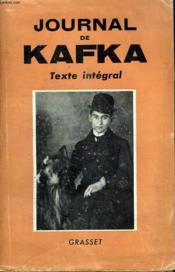 Journal De Kafka . Texte Integral. - Couverture - Format classique