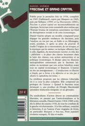Fascisme et grand capital - 4ème de couverture - Format classique