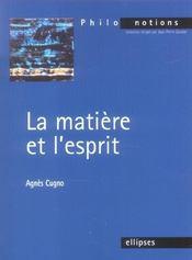 La Matiere Et L'Esprit - Intérieur - Format classique