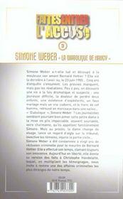 Simone weber, la diabolique de nancy faites entrer l'accuse - tome 3 - vol03 - 4ème de couverture - Format classique