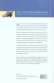 Les zoonoses parasitaires ; l'infection chez les animaux et chez l'homme - 4ème de couverture - Format classique