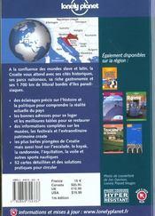Croatie ; 1e Edition - 4ème de couverture - Format classique