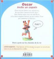 Oscar invite un copain - 4ème de couverture - Format classique