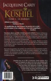 Kushiel t.1 ; la marque - 4ème de couverture - Format classique