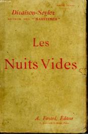 Les Nuits Vides. - Couverture - Format classique