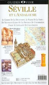 Guides Voir ; Seville Andalousie - 4ème de couverture - Format classique