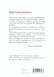 Dede L'Anticonformiste - 4ème de couverture - Format classique