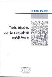Trois études sur la sexualité médievale - Intérieur - Format classique