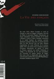 La vie des forcats - 4ème de couverture - Format classique