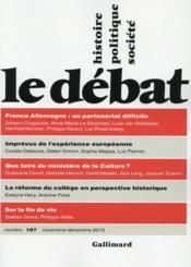 Revue Le Débat N.187 ; France Allemagne, un partenariat difficile - Couverture - Format classique