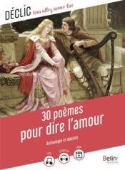 30 poèmes pour dire l'amour - Couverture - Format classique
