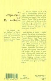 Le crepuscule de barbe-bleue - 4ème de couverture - Format classique