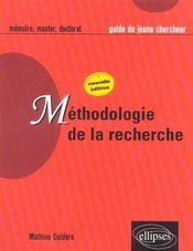 Methodologie De La Recherche Nouvelle Edition - Intérieur - Format classique