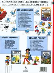 Les Schtroumpfs t.17 ; le Schtroumpfeur de bijoux - 4ème de couverture - Format classique