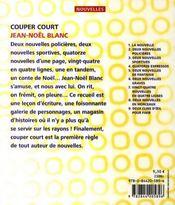 Couper court - 4ème de couverture - Format classique