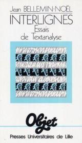 Interlignes 1. essais de textanalyse - Couverture - Format classique
