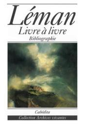 Leman (Livre A Livre) - Couverture - Format classique