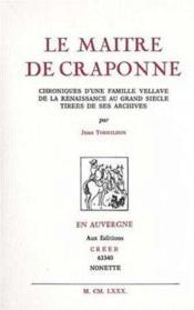 Le maître de Craponne - Couverture - Format classique