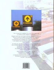 Formule 1 Cote Paddock ; 2e Edition - 4ème de couverture - Format classique