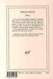 Efina - 4ème de couverture - Format classique