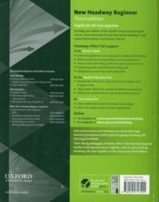 New headway ; beginner teacher's book (3e édition) - 4ème de couverture - Format classique