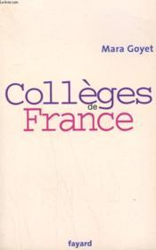 Colleges De France. - Couverture - Format classique