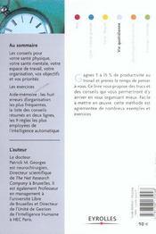 Gagner en efficacité (2e édition) - 4ème de couverture - Format classique