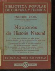 Nociones De Historia Natural - Couverture - Format classique