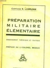 Preparation Militaire Elementaire - Couverture - Format classique