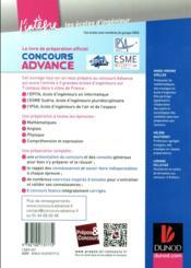 Concours Advance ; tout-en-un - 4ème de couverture - Format classique