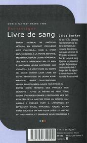 Le livre de sangt.1 - 4ème de couverture - Format classique