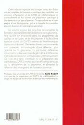 L'Epreuve Sur Dossier A L'Oral Du Capes De Mathematiques I Geometrie 2e Edition - 4ème de couverture - Format classique