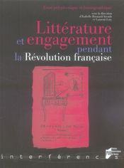 Littérature et engagement pendant la Révolution française - Intérieur - Format classique