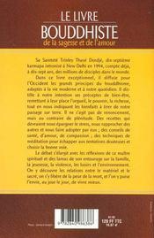 Livre Bouddhiste De La Sagesse Et De L'Amour - 4ème de couverture - Format classique