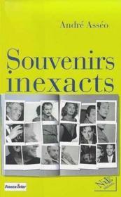 Souvenirs inexacts - Couverture - Format classique