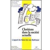 Chrétiens dans la société actuelle - Couverture - Format classique