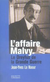 L'affaire Malvy - Intérieur - Format classique