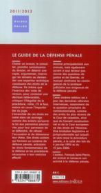 Le guide de la défense pénale 2011-2012 (6e édition) - 4ème de couverture - Format classique