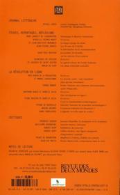 Revue Des Deux Mondes ; Les Nouveaux Rivages D'Internet - 4ème de couverture - Format classique