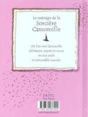 Le mariage de la sorciere camomille - 4ème de couverture - Format classique