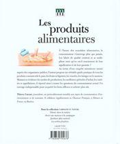 Les Produits Alimentaires ; Acheter Et Manger Plus Sur - 4ème de couverture - Format classique