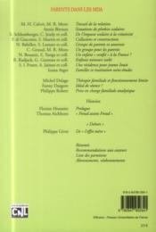 REVUE ADOLESCENCE N.89 ; parents dans les MDA - 4ème de couverture - Format classique