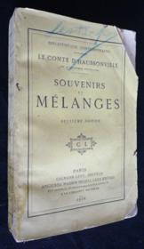 Souvenirs et mélanges - Couverture - Format classique