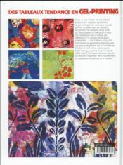 Des tableaux tendance en gel printing - 4ème de couverture - Format classique