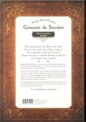 Grimoire de sorcières ; sorts et potions magiques - 4ème de couverture - Format classique
