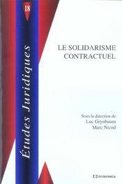 Le solidarisme contractuel - Intérieur - Format classique